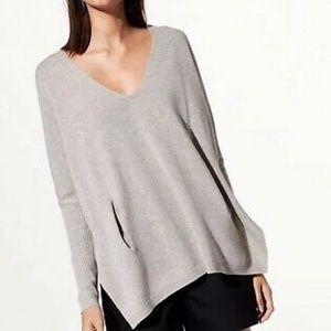 Babaton Erin sweater in grey ribbed size xxs/xs